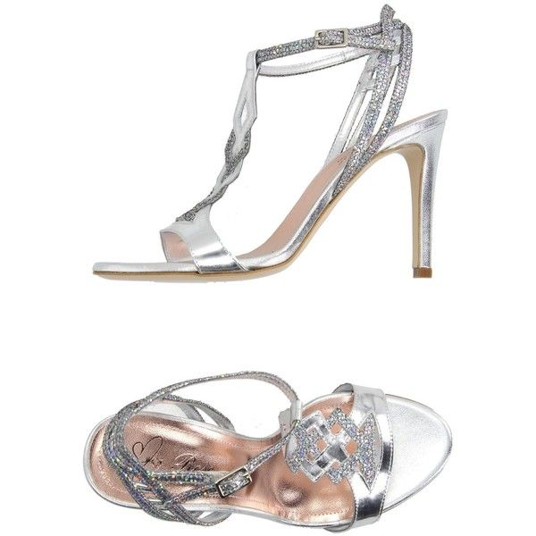 Rose Sandals featuring polyvore, women's fashion, shoes, sandals, silver, high heel stilettos, leather sandals, leather shoes, glitter stilettos and leather sole shoes