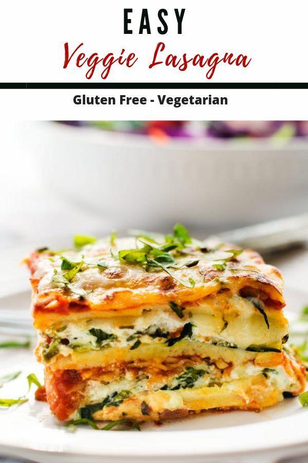Easy Vegetarian Lasagna Vegetable Lasagna Recipes Easy Vegetarian Lasagna Vegetarian Lasagna