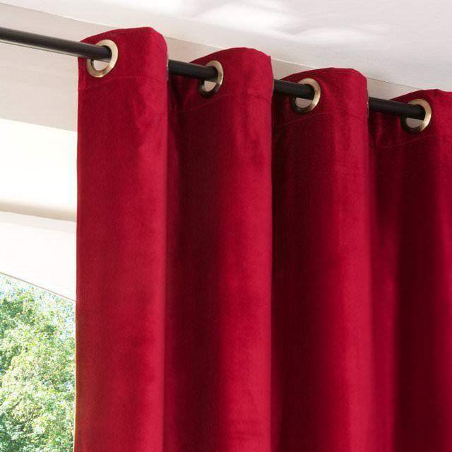 Tenda in velluto rosso - venduto all'unità
