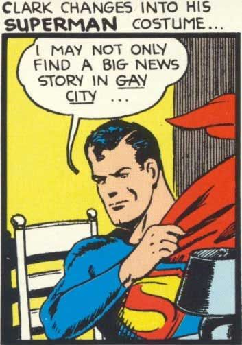 comic art gay Superman