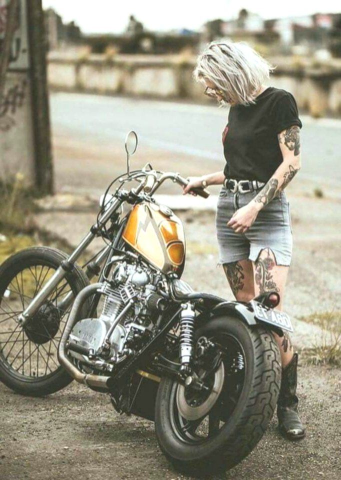Custom Culture Bobber Biker Girls Motorcycle Lifestyle Tattoo Art and