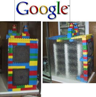 Google partió con servidor con estructura de lego