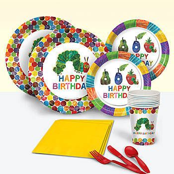 Our Very Hungry Caterpillar Basic Party Pack include plates, napkins ...