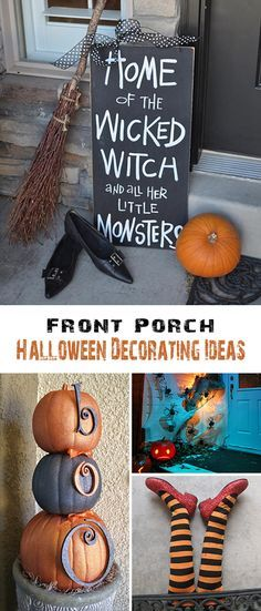 Front Porch Halloween Decorating Ideas Front porches, Porch and