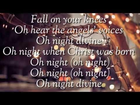 Oh Holy Night by Aaron Neville (Christmas Song) - Lyrics - YouTube   Christmas songs lyrics ...