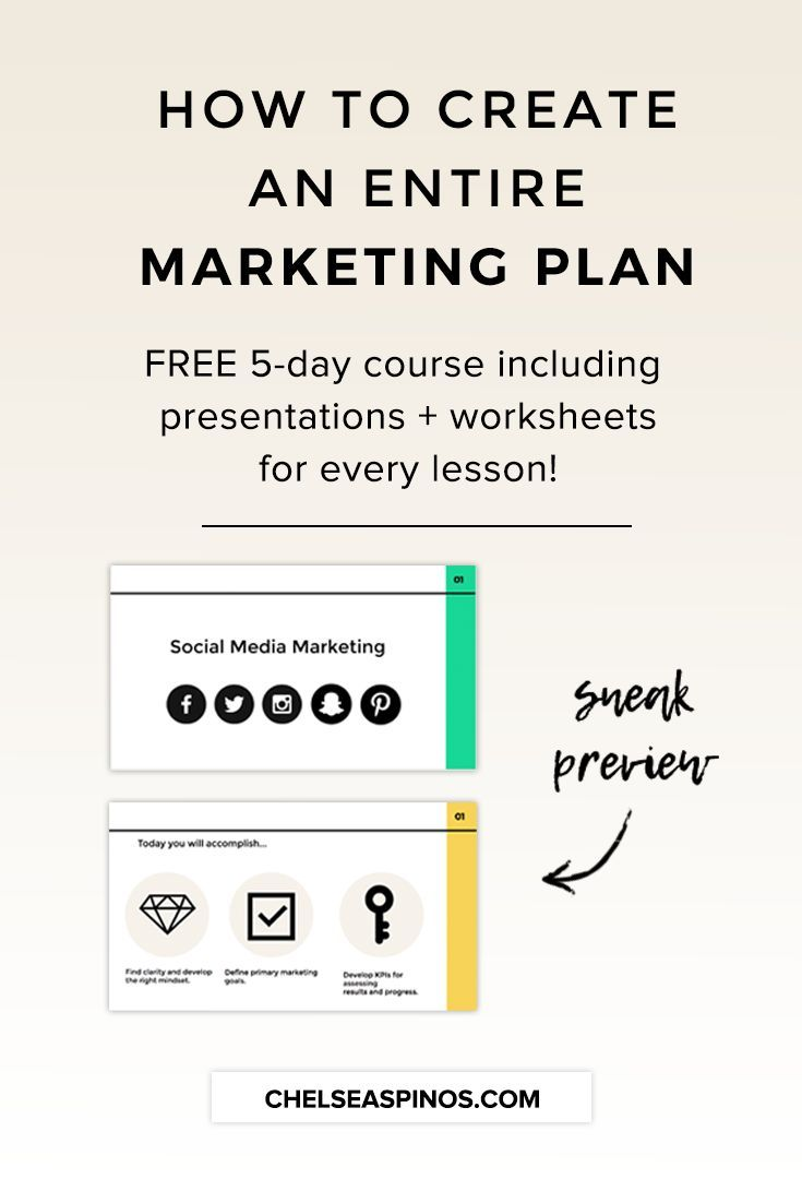 Free Day Email Course To Help You Create A Marketing Plan That