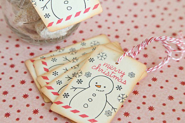 Merry Christmas Tags by unifyhandmade, via Flickr