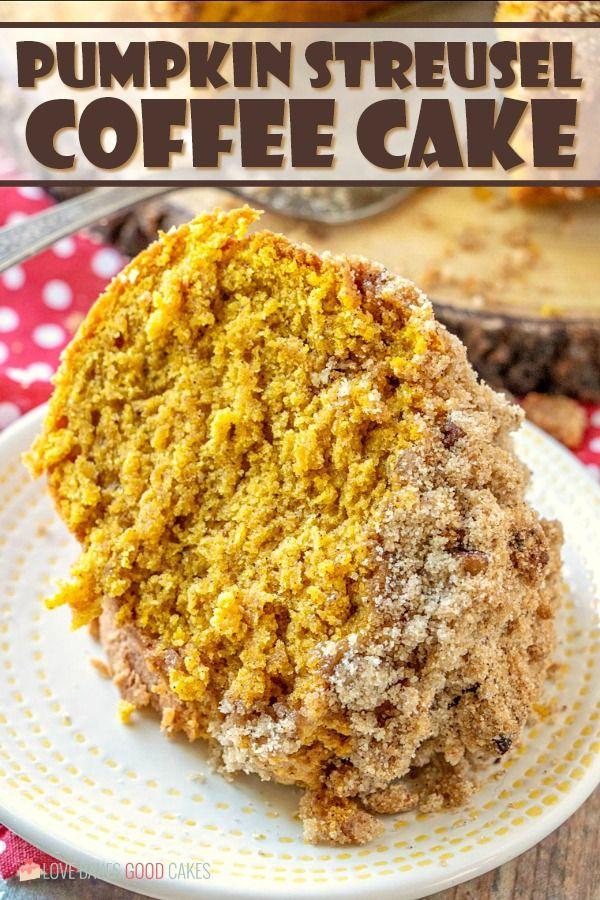Pumpkin Streusel Coffee Cake Recipe Pumpkin coffee