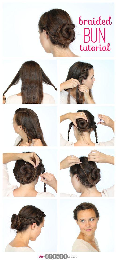 Easy Braided Bun Tutorial Ballet Hairstyles Bun Hairstyles Easy Bun Hairstyles