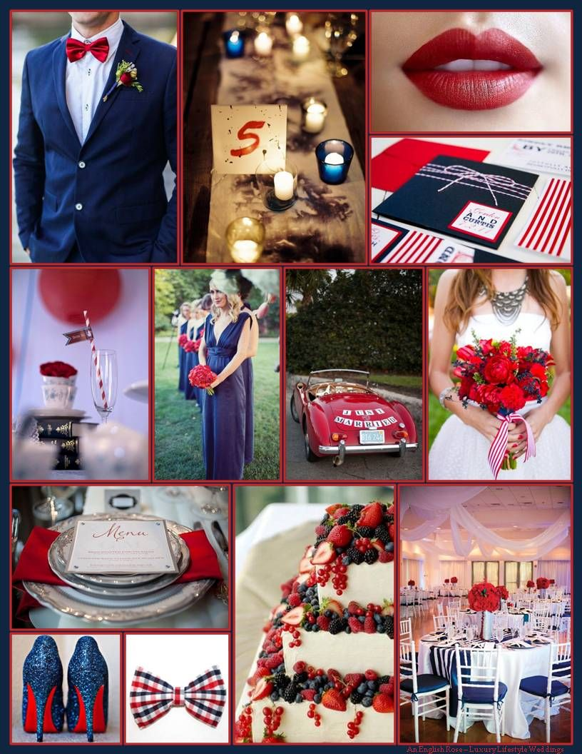 An English Rose, Luxury Lifestyle Weddings - Navy Blue and Red ...