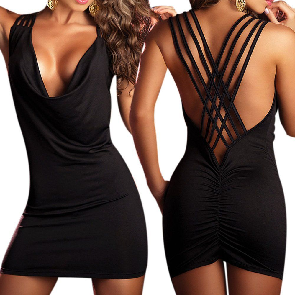 Sexy Dresses Open Back Cowl