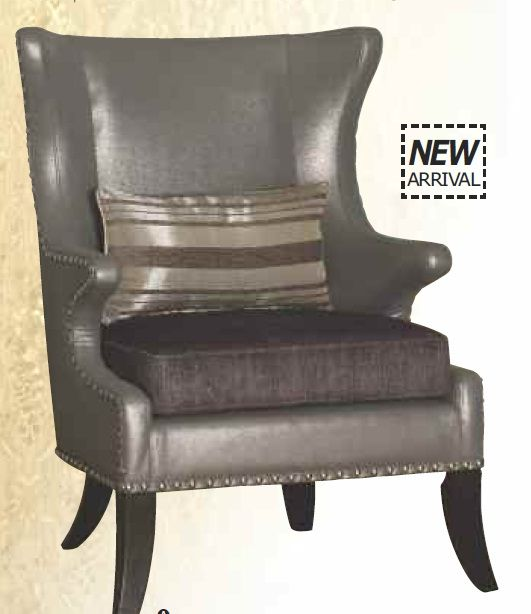 Maia Leather Pillow Accent Chair: Fabric Accent Chair, Accent