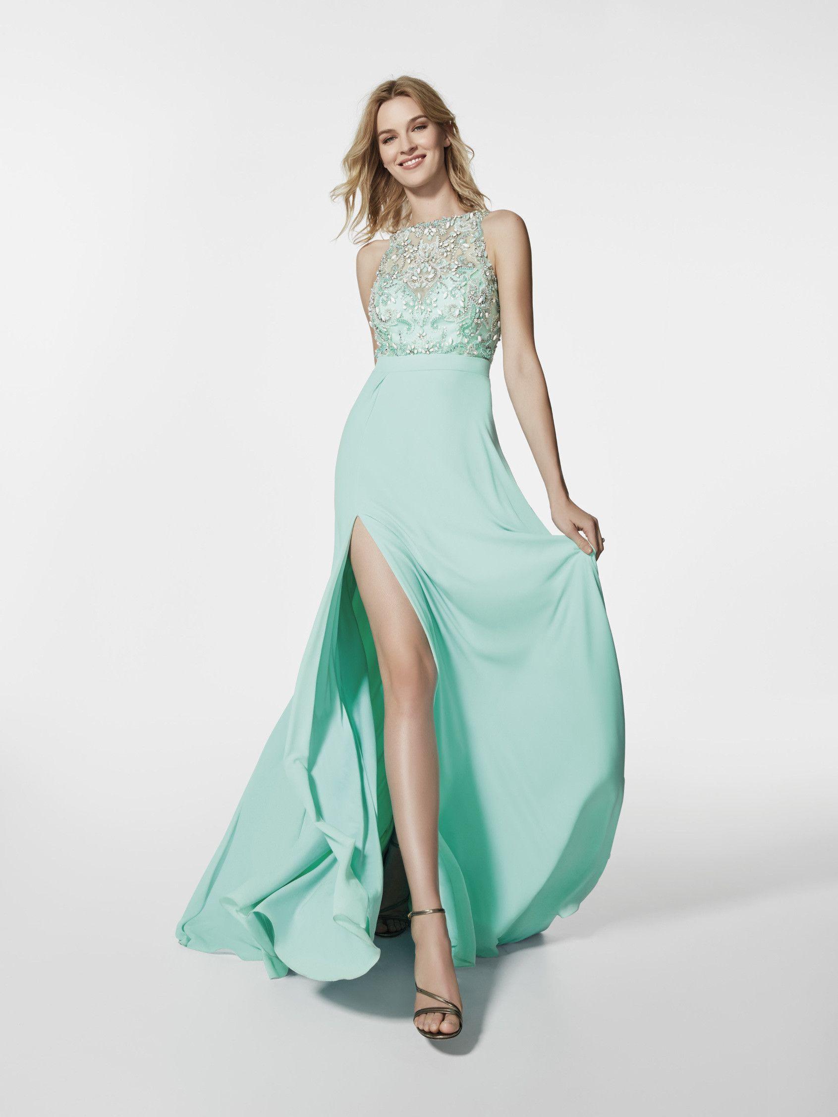 Venta de vestidos largos verde menta