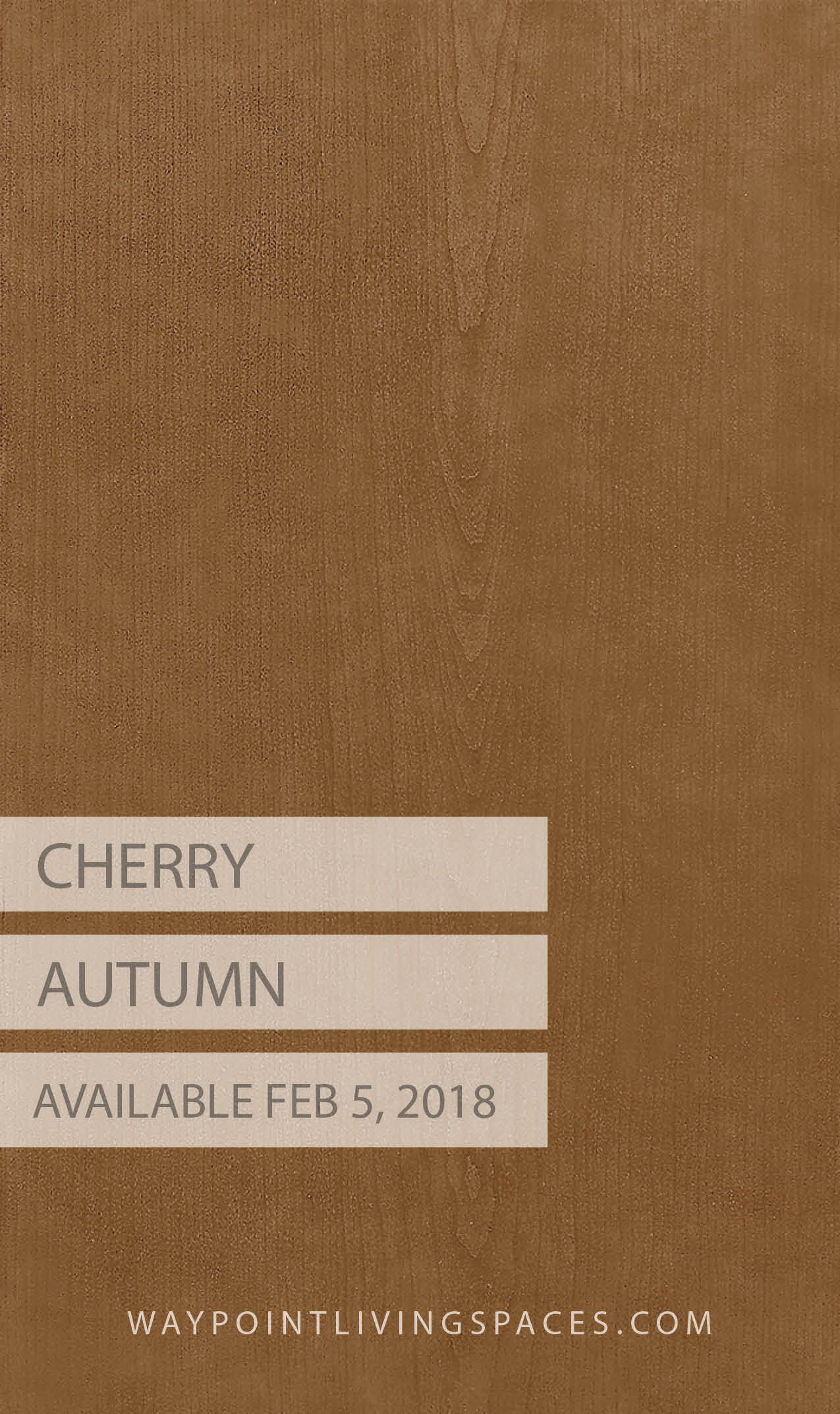 Cherry Autumn A New Cabinet Finish From Waypoint Living Es Available February 5 2018