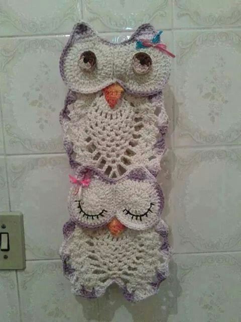 Para el baño  crochet  Pinterest  Crochet, Owl patterns ...