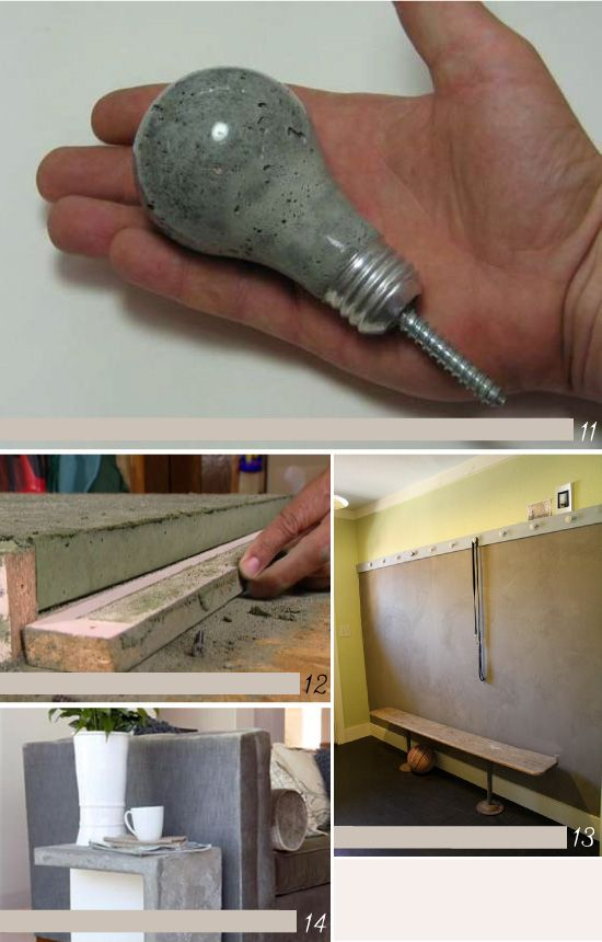 diy avec du ciment diy pinterest stricken und h keln. Black Bedroom Furniture Sets. Home Design Ideas