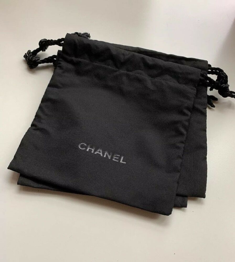 93a693e13bd1 Chanel Drawstring Bag PouchBlack Small Makeup Cosmetic Bag Pouch 5