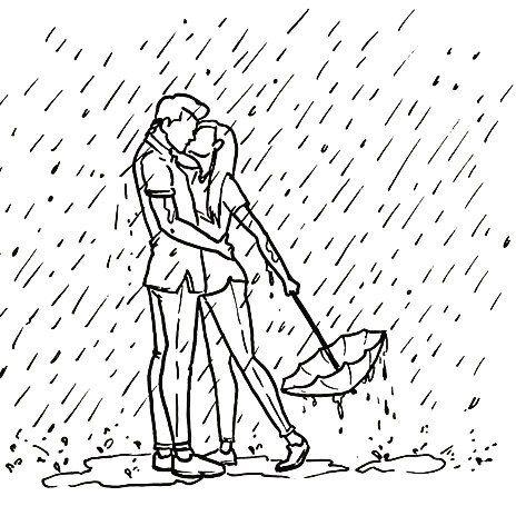 Amor Bajo La Lluvia Por 3896days Pelaeldiente Feliz Comic Caricatura Vineta Graphicdesign Fun Art Lluvia Dibujos Pintura De Pareja Dibujos Tumbrl