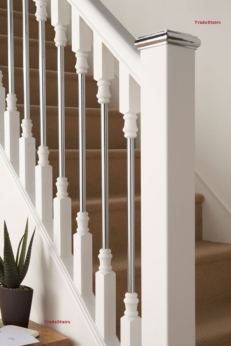 Http://www.tradestairs.com/acatalog/axxys Solo White Chrome Stair Spindles