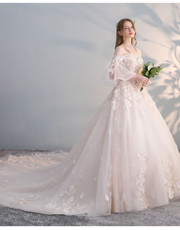 Off Shoulder Princess Bridal Dress Elegant Wedding Dress Dream