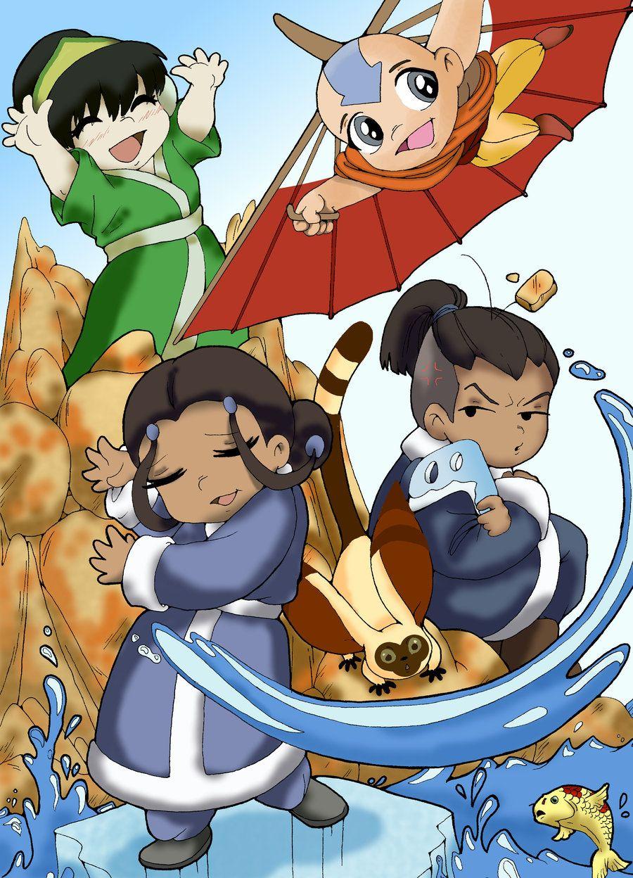 Toph, Aang, Katara, Sokka! Avatar the last airbender