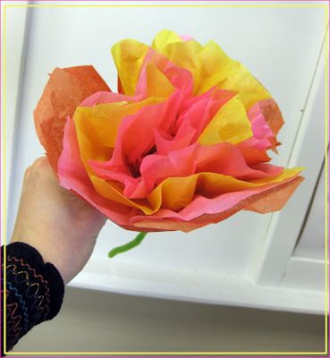 My Students Also Made These Tissue Paper Flowers For Our Mexican