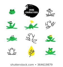 Frog Logo の画像 写真素材 ベクター画像 Shutterstock カエルのタトゥー カエルアート かわいいカエル