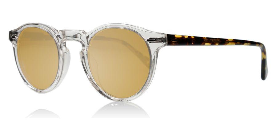 Oliver Peoples Gregory Peck Sun Sonnenbrille Transparent Dunkelbraun und Tortoise 1485W4 47mm R15zSQMP