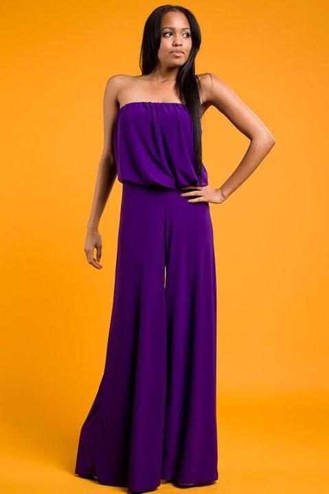53718ac368 Purple jumpsuit Alexandra s Boutique