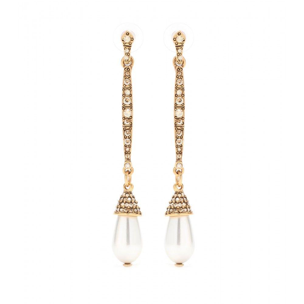 Oscar De La Renta Crystal embellished earrings lR7iRtzg8G