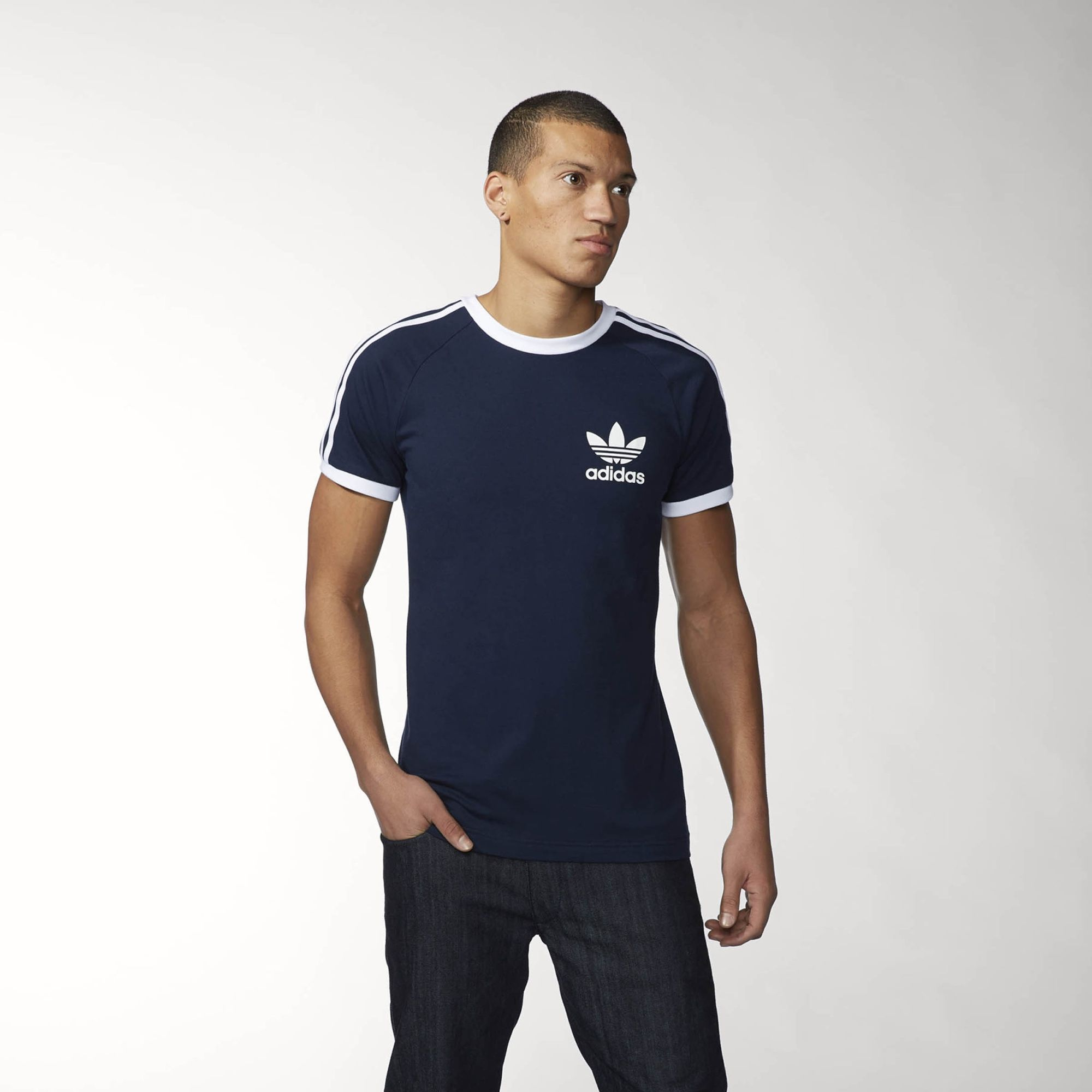 adidas Playera Originals Sport Essentials - Azul  4391763994f65