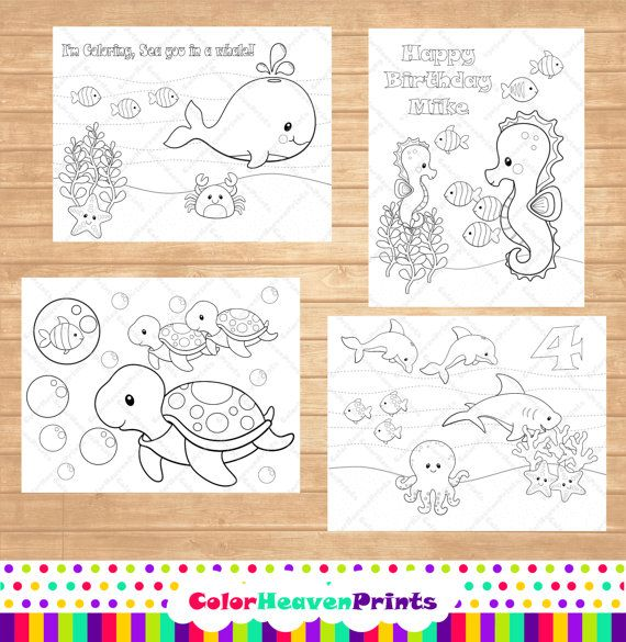Animal Coloring Pages Homeschooling Sea by ColorHeavenPrints, $7.00 ...