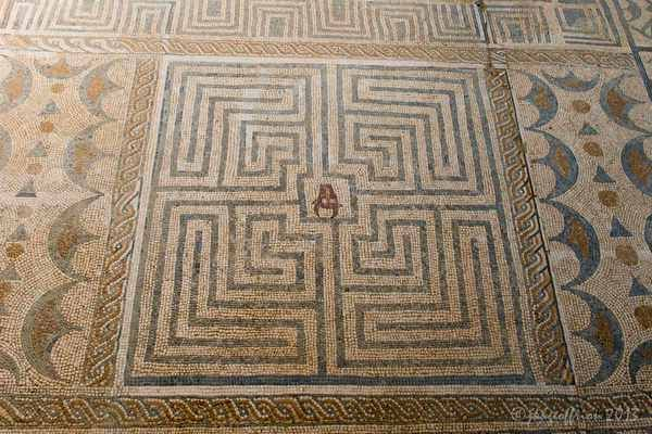 Conimbriga Portugal - Classic labyrinth with Minotaur (III cent.?) House of the Fountains -
