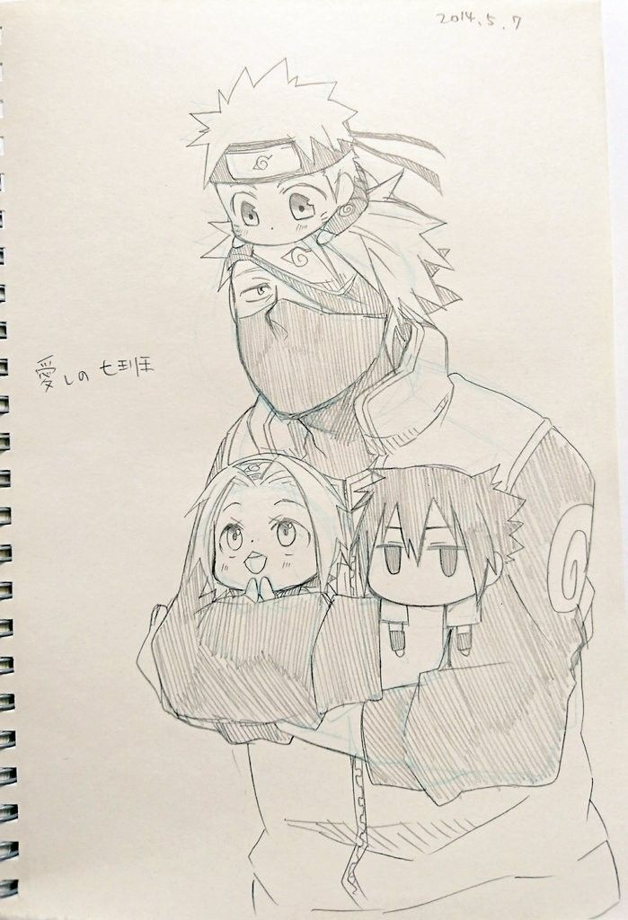Kakashi Sensei Taking Care Of Naruto Sakura Sasuke Naruto