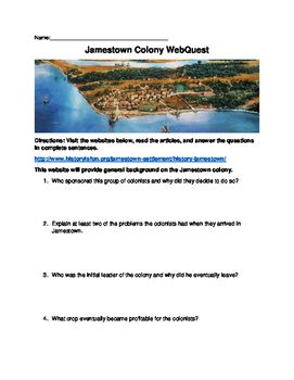 Jamestown webquest with answer key students jamestown webquest with answer key fandeluxe Choice Image