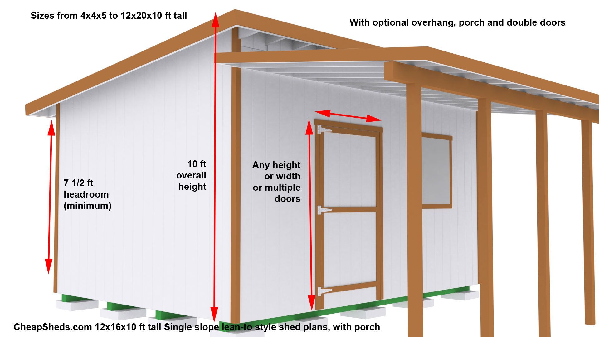 Lean To Style Sheds Shed Plans Storage Shed Plans Shed Plans 12x16