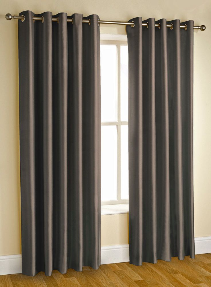 Extra Long Faux Silk Fully Lined Eyelet Curtains 90\