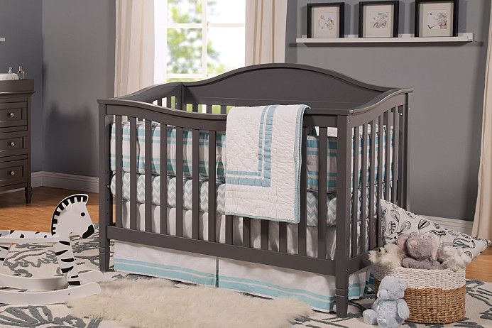 Laurel 4 In 1 Convertible Crib With Toddler Bed Conversion