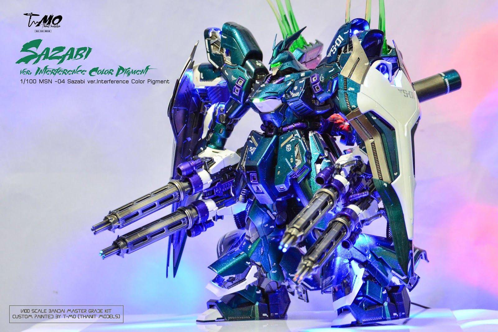 Msn04 Sazabi Gundam T Rx 93 V Nu Ver Ka Master Grade 1100 Daban Model