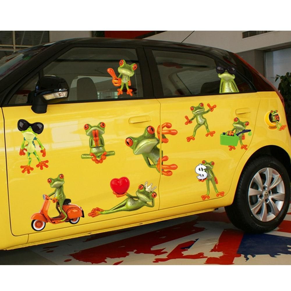 Decals Car Sticker Cartoon Funny Humorous Frog Big Eye Removable ...