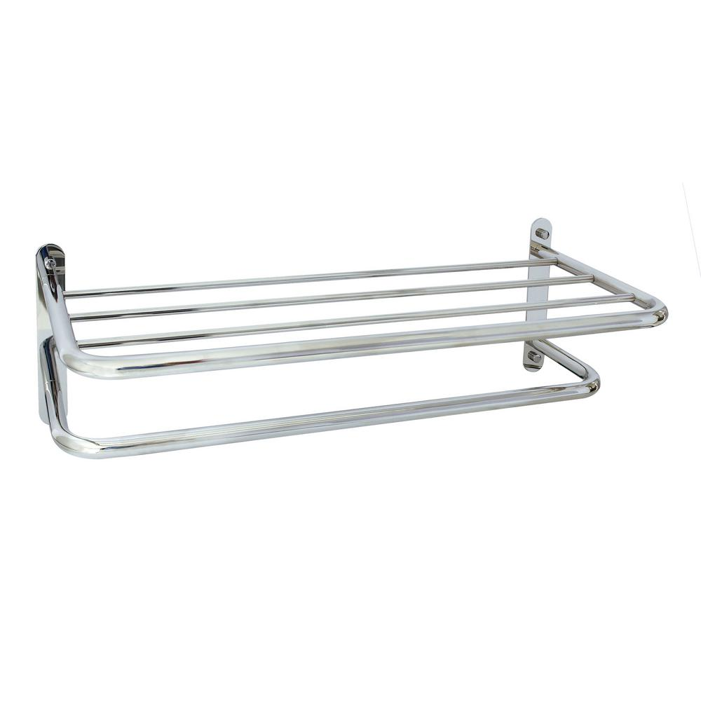 Modona Hotel Grade 24 In Wall Mounted Towel Rack In Polished