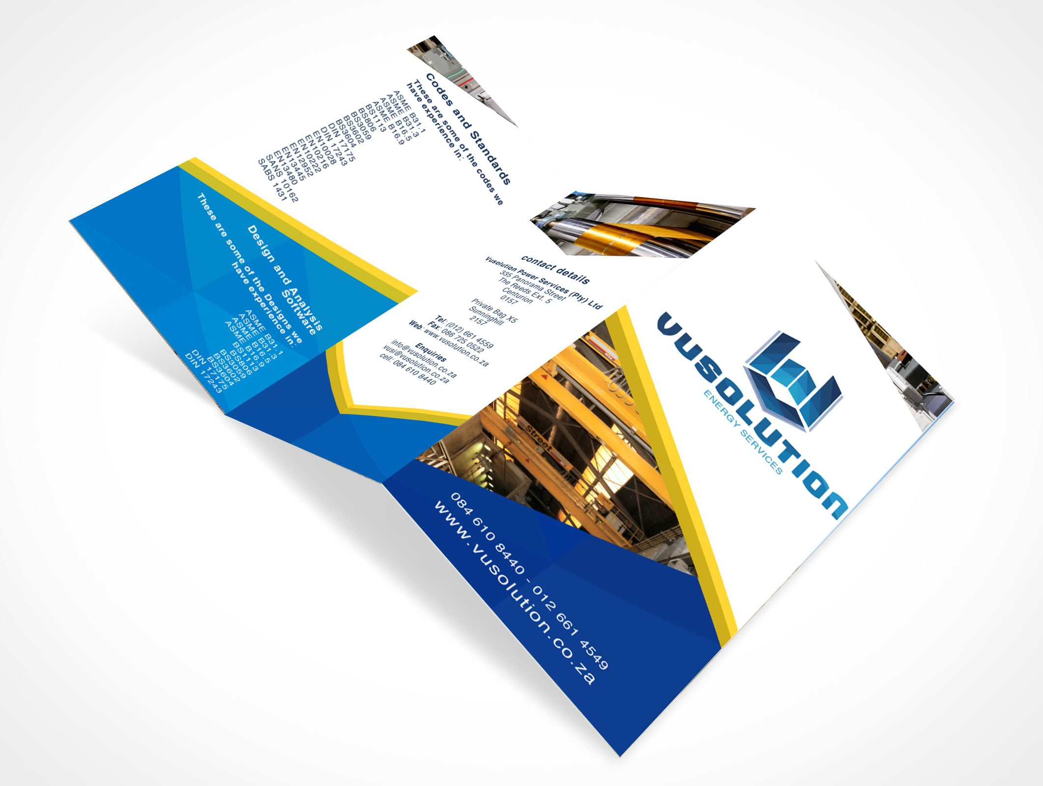 Vusolution Energy Services  Brochure Design  Mynkosi Branding