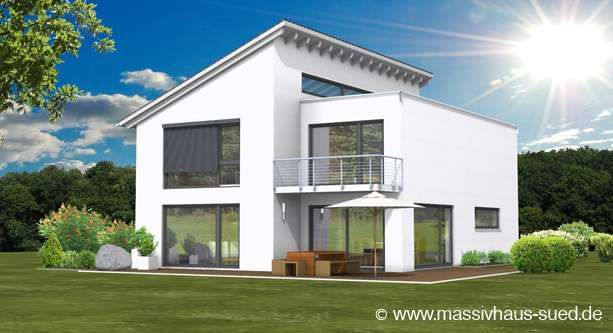 Lifestyle 194 modernes massivhaus mit einer kombination for Modernes haus in hanglage