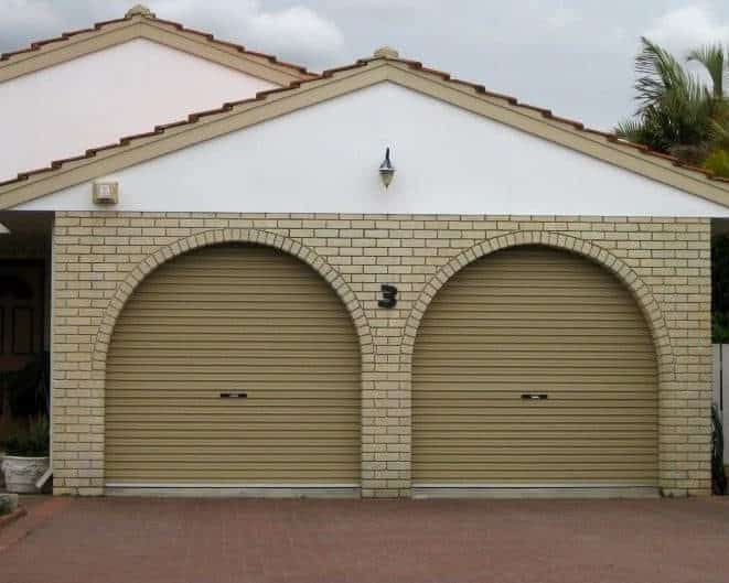 Two single roller doors in archway & Two single roller doors in archway | Centurion Roller Doors ...
