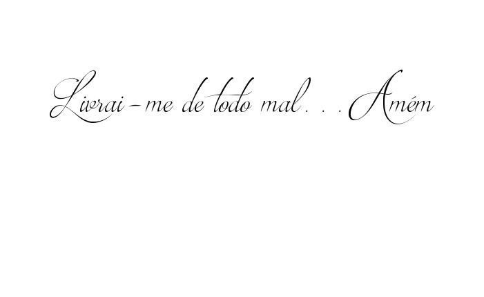 Tatuagem Do Nome Livrai Me De Todo Malamém Utilizando O Estilo