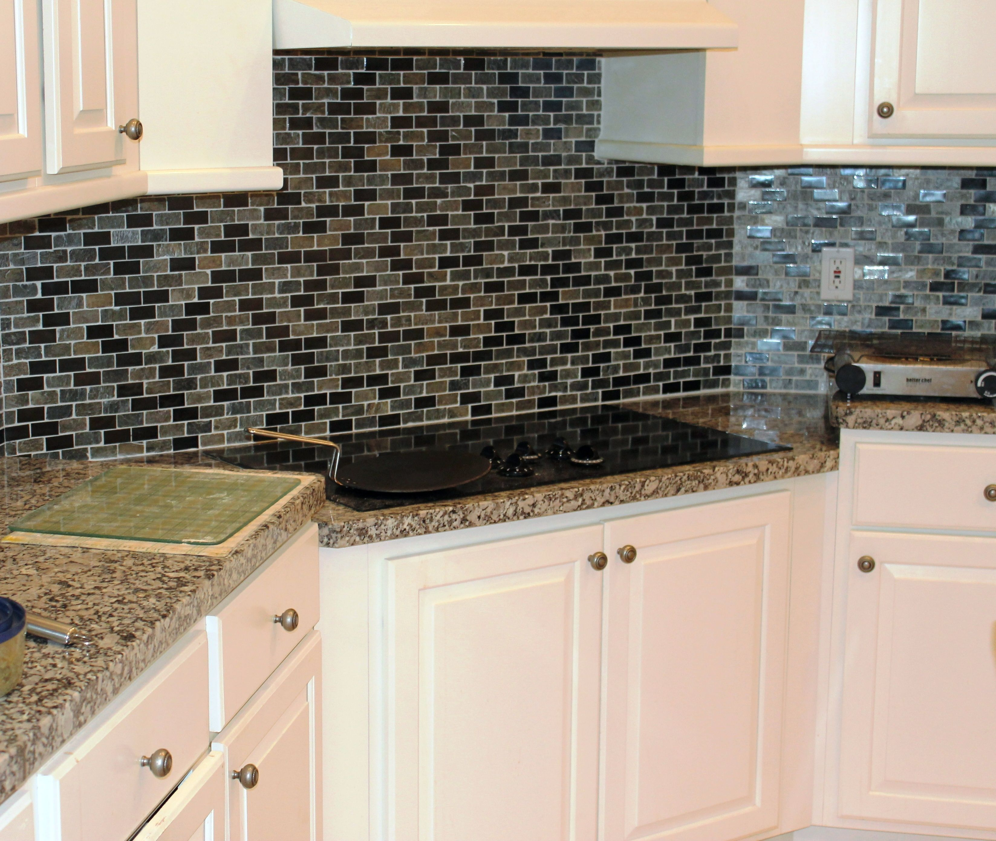 - Kitchen Backsplash. Replace The Tan Tiles With Yellow. Cozy