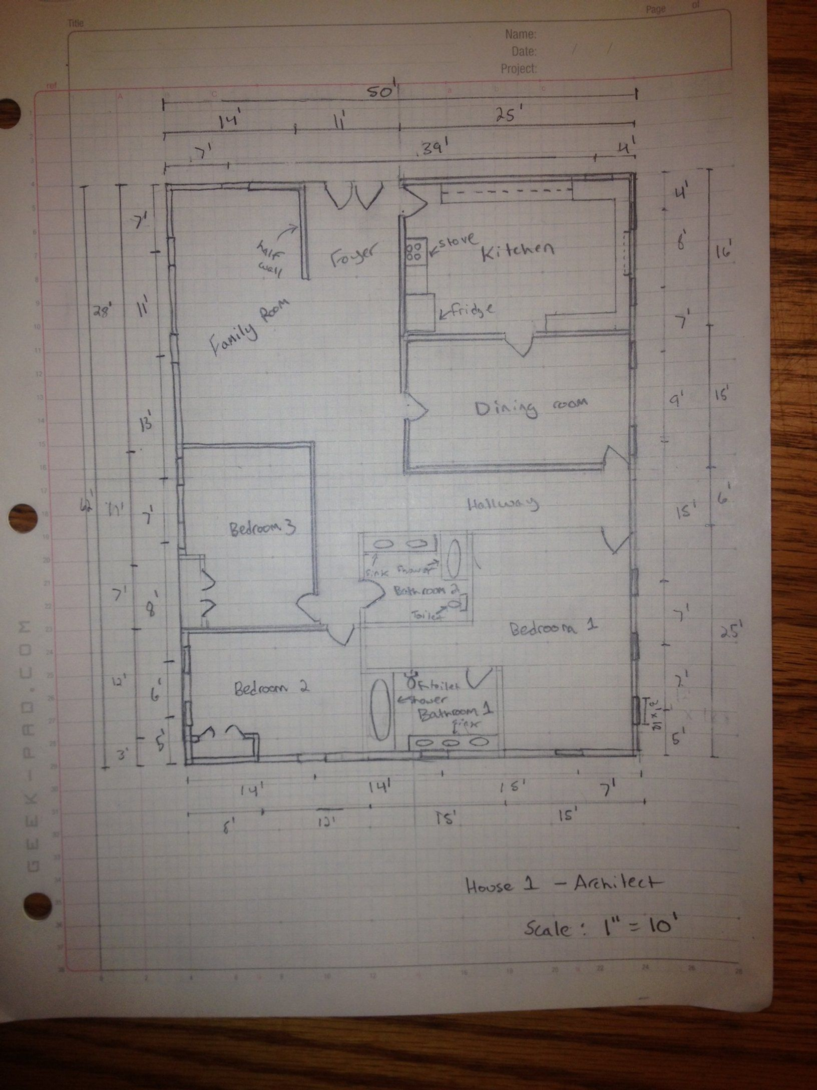 How To Manually Draft A Basic Floor Plan Floor Plan Design Design Your Own Home Free House Design