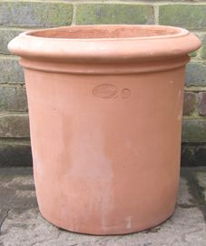 Superb Terracino Terracotta Pot, Fresco Cylinder