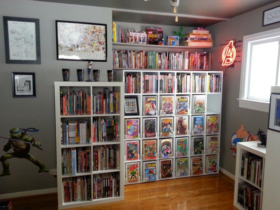 Comic Book Shelving Interior Design Home Decor Accessories Furniture Storage Shelves