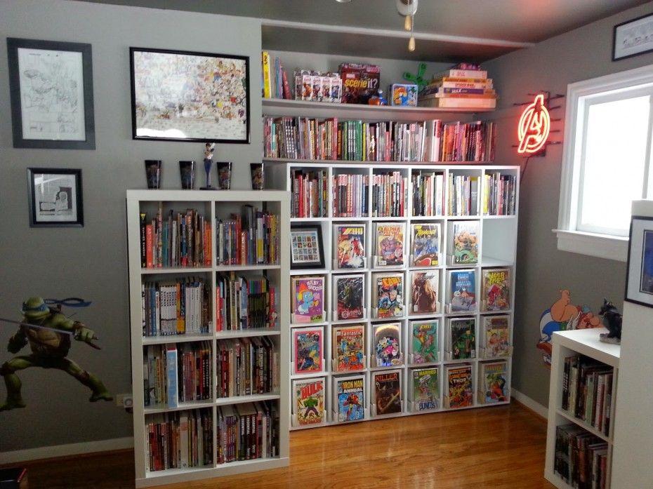 Comic Book Shelving Interior Design Home Decor Home Accessories